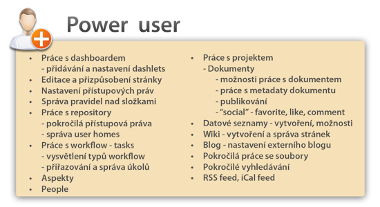 Power user - připravujeme